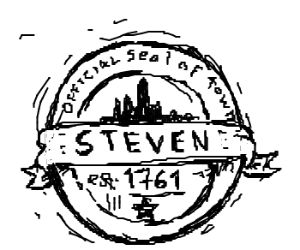 The town seal of Steven.