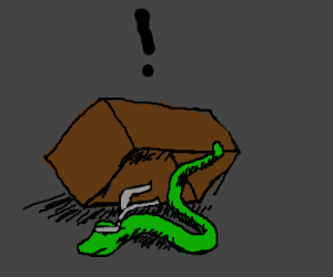 Solid snake is actual snake in a box
