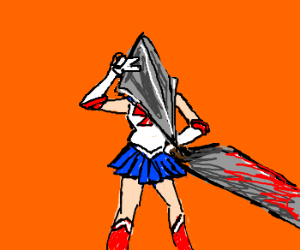 "Sailor Moon is Pyramid Head from ""Silent Hill"""