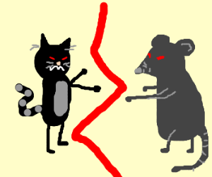 Cat VS. Rat Drawception style!