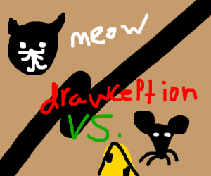 A cat and mouse game of Drawception