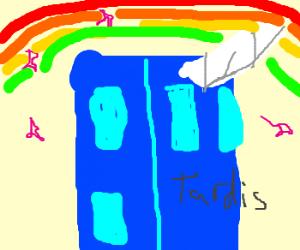 The TARDIS is a unicorn