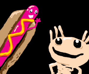 Hot dog greeting Composition