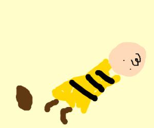 Charlie Brown trips on a potato