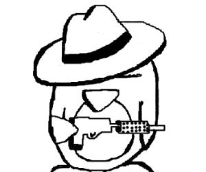 Penguin Mafia: speak softly, carry a big gun.