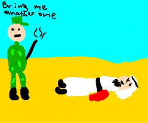 Soldier demands another victim