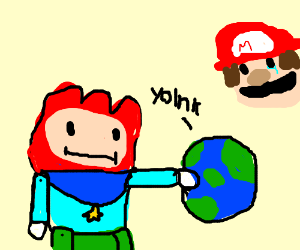 Maxwell has robbed Mario's universe!