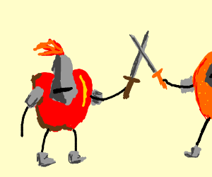 The fighting fruit knights