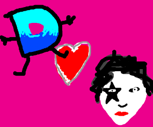 Drawception is in love with KISS? WTH?