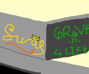 AG SWAG graffiti