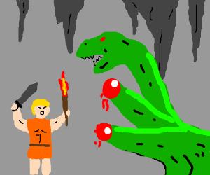 Hercules vanquishing the Hydra