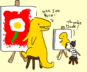 Painting with Mr T-Rex