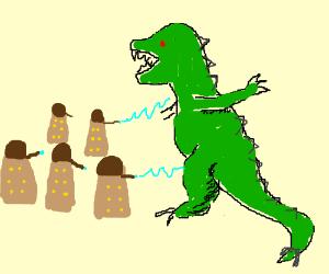 Dalek army vs Godzilla