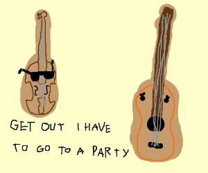 Popular violin bullies guitars