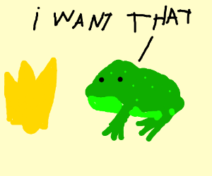 frog wants to be a king