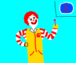 Ronald McDonald receives love note in US nail.