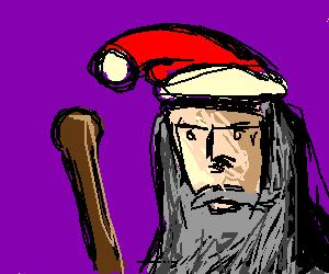 Gandalf Gets Work As Santa