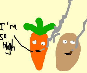carrot and potato smoking