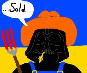 Darth Vader sells Iowa