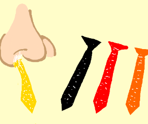Sniff the correct colored tie