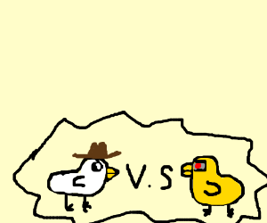 Western chicken vs cyborg duck