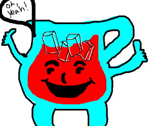 Kool-aid guy cheers you