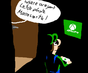 Luigi secretly plays Xbox One