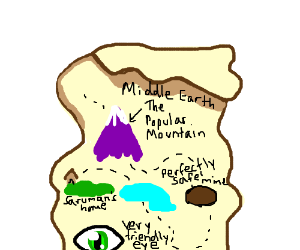 disturbingly inaccurate map of middle earth