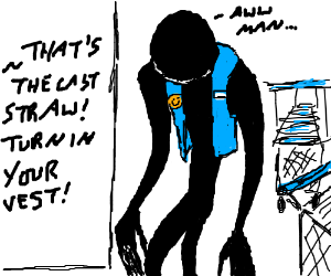 Slenderman gets fired as Walmart greeter