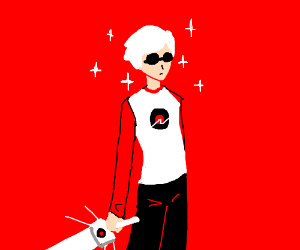 Dave Strider with bishie sparkles