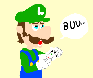 Luigi playing XBox is not impressed