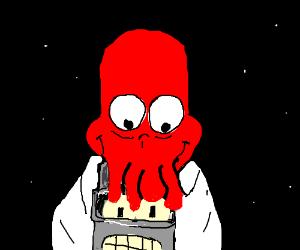 Zoidberg eating Bender's Face