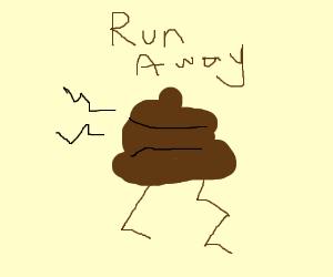 piece of doo doo fleeing