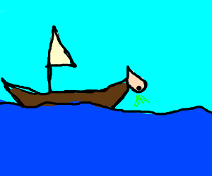 Boat with a nose.