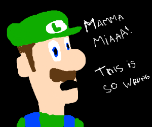 Luigi slowly realizing what's wrong with games