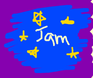 Space Jam on a purple background