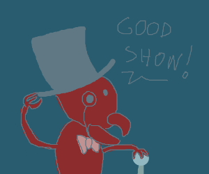 Dapper ant with tophat and bowtie