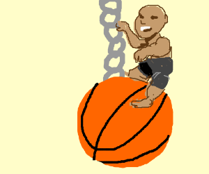 Charles Barkley came in like a Basket Ball