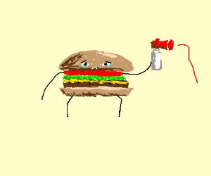 Burger Kid has a faulty airhorn