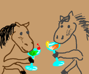 Horse cocktail party