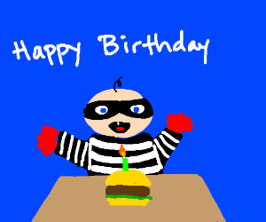 Hamburglars 1st birthday