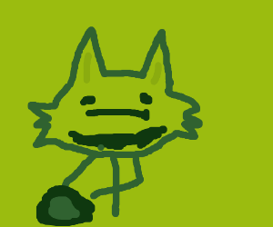 green fox about to use kamehameha