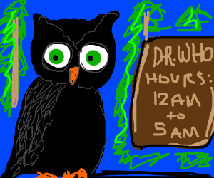Owl physician only takes night patients