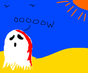 Even ghosts should be sure to wear sunscreen.