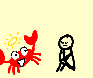 Holy Crab Cheering Up Someone