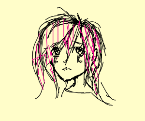 Pink Haired Anime Girl