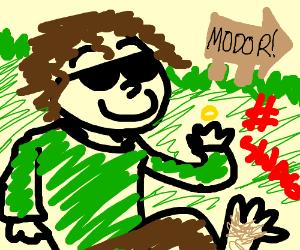 Frodo just walks into Mordor #SWAG