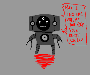Creepy chibi robot