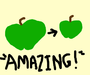 The amazing shrinking apple
