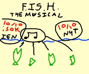green fish singing